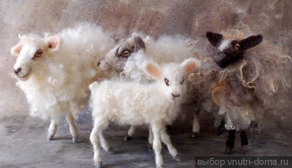 Поделка коза из ткани